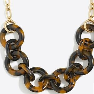 J. Crew 》Tortoise Shell Link Necklace